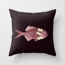 Almost dead fish Throw Pillow