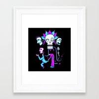 dia de los muertos Framed Art Prints featuring Dia de los Muertos by Ken Seligson