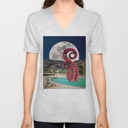 Octopus in the pool Unisex V-Neck