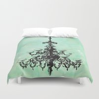 chandelier Duvet Covers featuring chandelier by jennifer tough