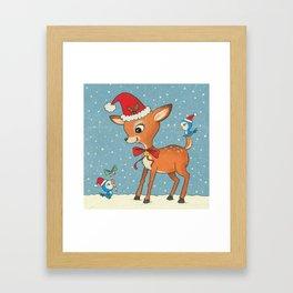 Vintage deer Framed Art Print