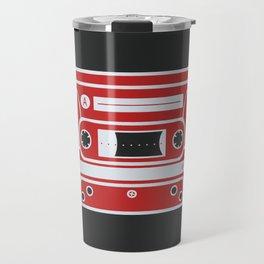 Retro Style Music Cassette in Red Travel Mug