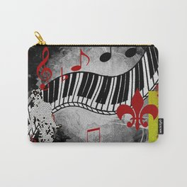JAZZ PIANO KEYBOARD MUSIC Carry-All Pouch