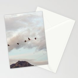 Migration of the Birds // Mountain and Sky Meets Nature Landscape Photography of Wildlife Stationery Cards