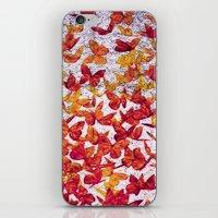 butterflies iPhone & iPod Skins featuring Butterflies by Lia Bernini