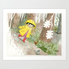 in the rain 2 Art Print