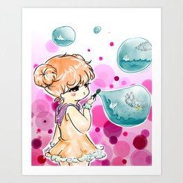 burbujas Art Print