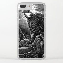 Moses Smashing the Tables of the Law - Dore Clear iPhone Case