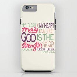 Psalm 73:26 iPhone Case