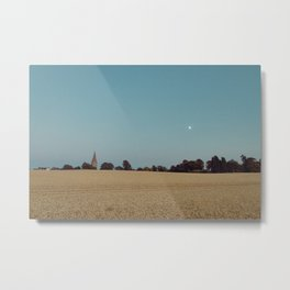 The Moon and the Church Metal Print