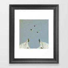 Blue Mittwoch Framed Art Print