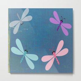 Pastel Butterflies Minimalism Metal Print