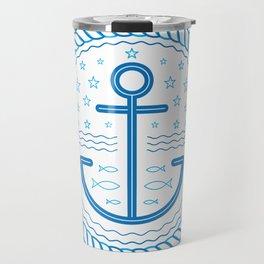 Blue Anchor Travel Mug