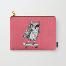 Ride On Owl_pink Carry-All Pouch