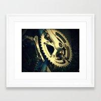 metal gear Framed Art Prints featuring Gear by Gracemphotography