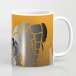 African elephants in sunrise Coffee Mug