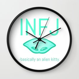 INFJ Alien Wall Clock
