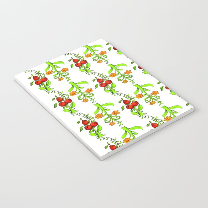 bright trees and fruits Notebook