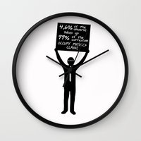 physics Wall Clocks featuring Occupy Physics Class by acrossTPB