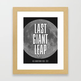 Last Giant Leap Framed Art Print