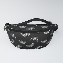 Autumn Night Moth Pattern Fanny Pack