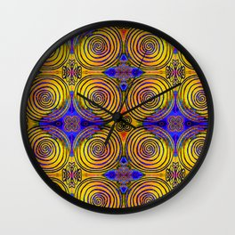 Tree Ring Mandala Wall Clock