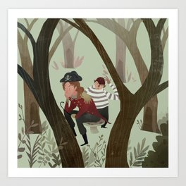 Hook and Smee Art Print