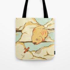 Sky Diving Tote Bag