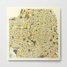 San Francisco Map Metal Print