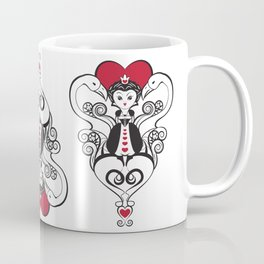 Queen of Hearts  | black, white and red Coffee Mug