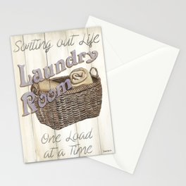 Vintage Laundry Room 2 Stationery Cards