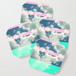 Rainbow Fluff Coaster