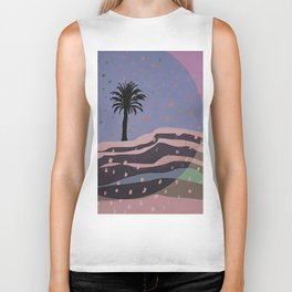 Autumnal Air around the Palm Tree Biker Tank