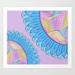 Pinky Inky Flowers Art Print