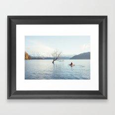 That Wanaka tree kayak session Framed Art Print