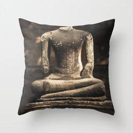 Beheaded Bhudda Throw Pillow