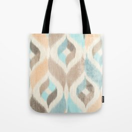 Soothing Waves Ikat Tote Bag