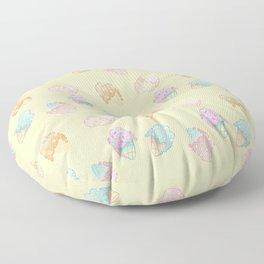 Pastel Melted Ice Cream (yellow) Floor Pillow