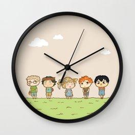 Spring! Karasuno 1st Years Wall Clock