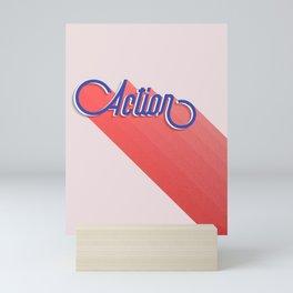 Action - typography Mini Art Print
