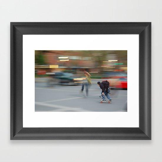 New York City Skaters #1 Framed Art Print
