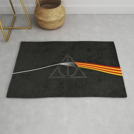 the darkside of the deathly hallows Rug