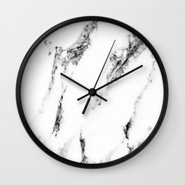white marble no. 1 Wall Clock