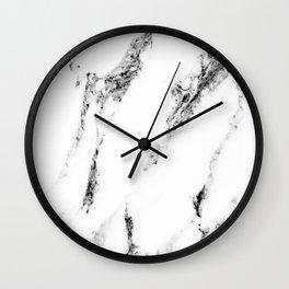 white marble no. 1 Wall Clock