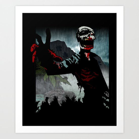 A Cold Welcome Art Print
