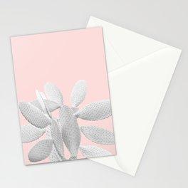White Blush Cacti Vibes #1 #plant #decor #art #society6 Stationery Cards