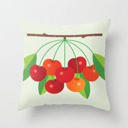 Fruit: Cherry Throw Pillow