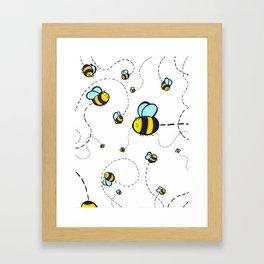 Bumble Pattern Framed Art Print