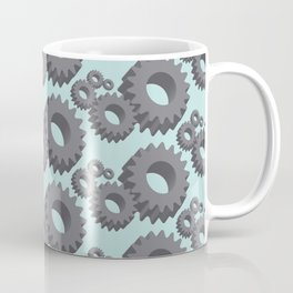Mechanical cogwheels in 3D Coffee Mug