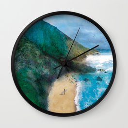 Wild Beach Wall Clock